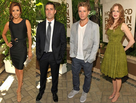 Pictures of Ryan Phillippe, Nicole Kidman, Matthew Fox and Eva Longoria at Lunch in Beverly Hills