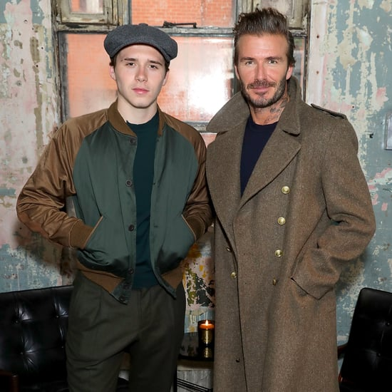 David and Brooklyn Beckham at Kent & Curwen Show Jan. 2017