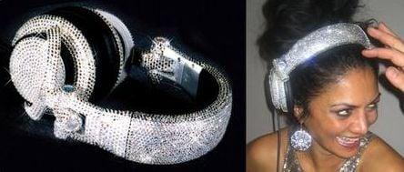 Totally Geeky or Geek Chic? Swarovski Headphones