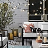 Get the Look: Glass Outdoor Lantern Black Stand
