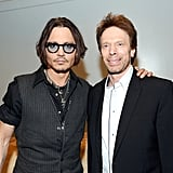 Johnny Depp got together with producer Jerry Bruckheimer at CinemaCon in Las Vegas.