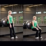 Stability Ball Wall Sits