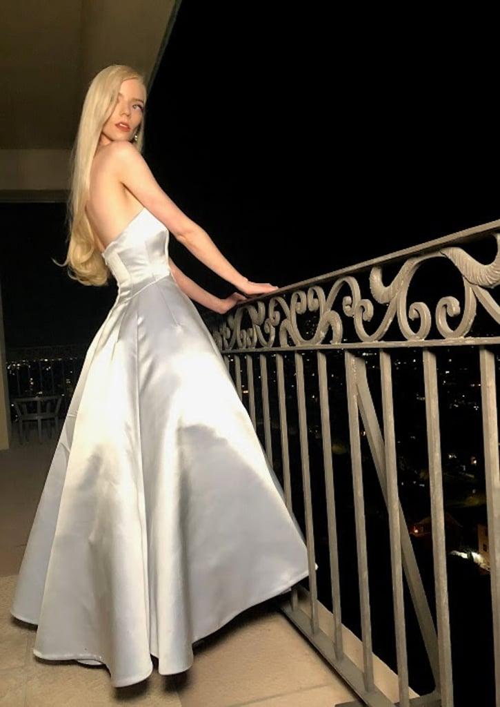 Anya Taylor-Joy Wears Second Dior Dress For Golden Globes