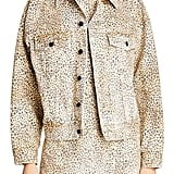 Denim x Alexander Wang Game Cheetah Print Denim Jacket