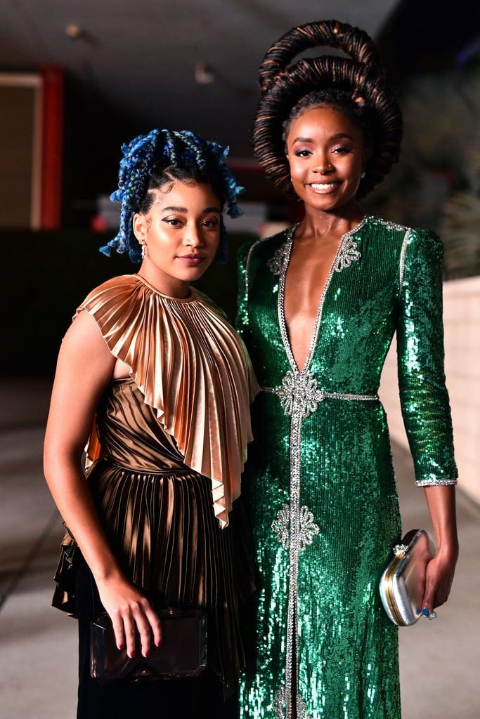 Amandla Stenberg and Kiki Layne at the 2019 LACMA Art + Film Gala