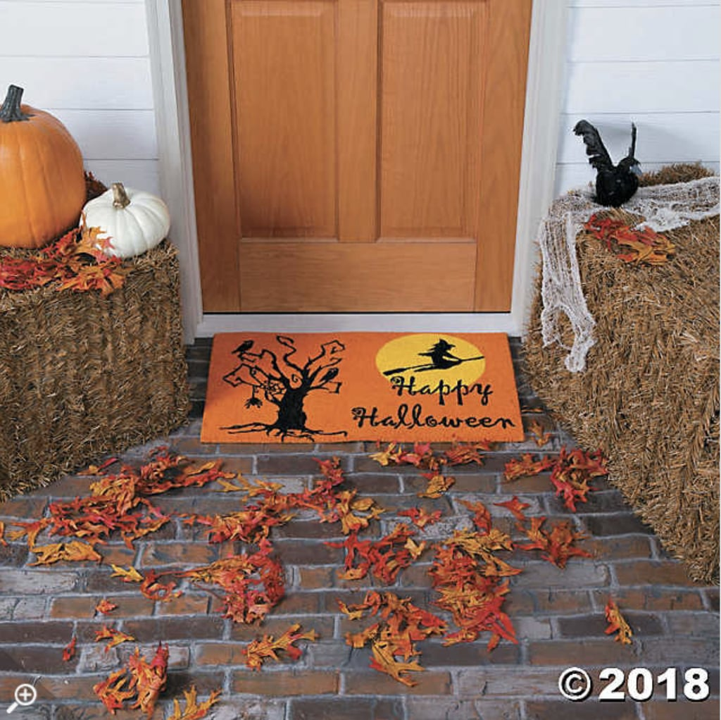 halloween doormat | door decorations for halloween | popsugar
