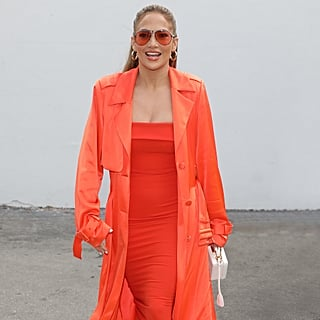 Jennifer Lopez's Orange Dress and Heels on Despierta America