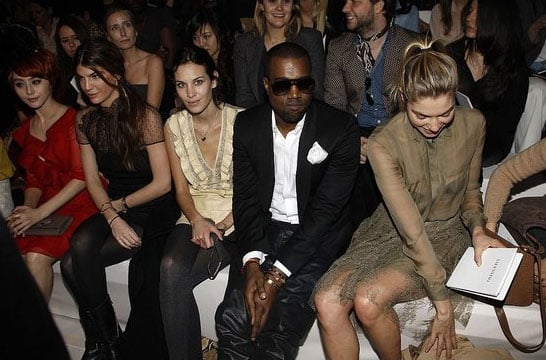 Pictures of Alexa Chung Naomi Campbell Kanye West at Paris Fashion Week