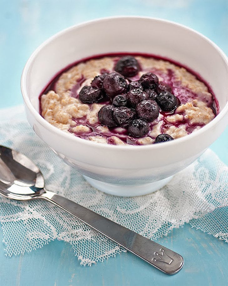 Coconut Oatmeal With Blueberry Compote