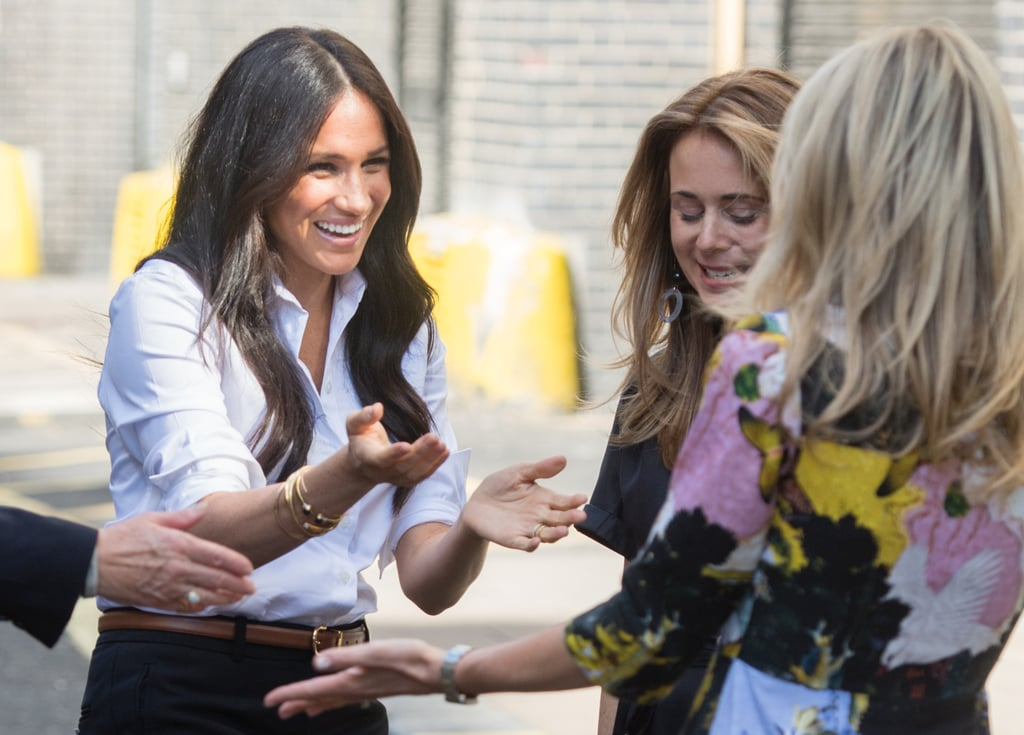 Maternity leave is officially over for the Duchess of Sussex, who stepped out on Thursday to launch her first-ever fashion collection. Meghan has been busy working with a number of big UK retailers on a special clothing collection for Smart Works, one of the charities for which she serves as patron. Items from Meghan's capsule collection, known as The Smart Set, will be sold online, and for each one that's bought, another will be given to long-term unemployed or vulnerable women with an upcoming job interview. This isn't the first time we've seen Meghan get stuck in at Smart Works. Back in January, we got a glimpse of the duchess helping to style women at the organisation's London office. This time around, the launch is set to include a panel discussion, and a chance for Meghan to show off all the styles in the small-but-perfectly-formed fashion range. Keep reading to see all the photos.