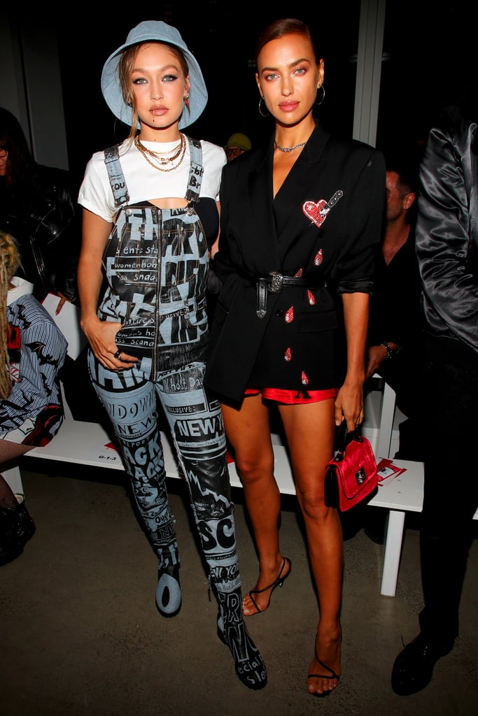 Gigi Hadid and Irina Shayk at the Jeremy Scott New York Fashion Week Show