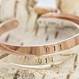 Hand Stamped Eleven Cuff Bracelet