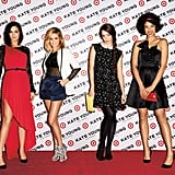 Leigh Lezark, Nathalie Love, Hailey Gates, and Lily Kwong take the red carpet in the Kate Young For Target campaign, shot by Terry Richardson. And who exactly are these girls? Gates is a model, Love is an actress who has worked with Emma Roberts and James Franco, Kwong is a model and fashion industry insider, and Lezark is a member of the DJ group The Misshapes.