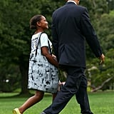 President Obama Shares a Sweet Father-Daughter Moment With Sasha