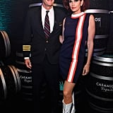 Rande Gerber and Cindy Crawford as a Pilot and Flight Attendant