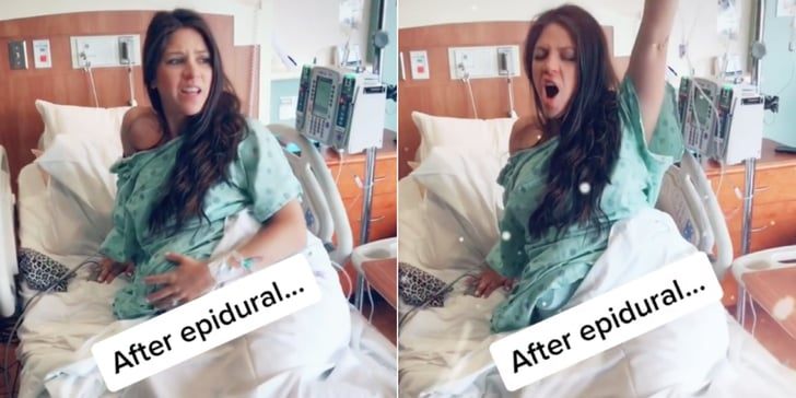 A Mom Made a Hilarious Reference to the Movie Bridesmaids After Getting an Epidural