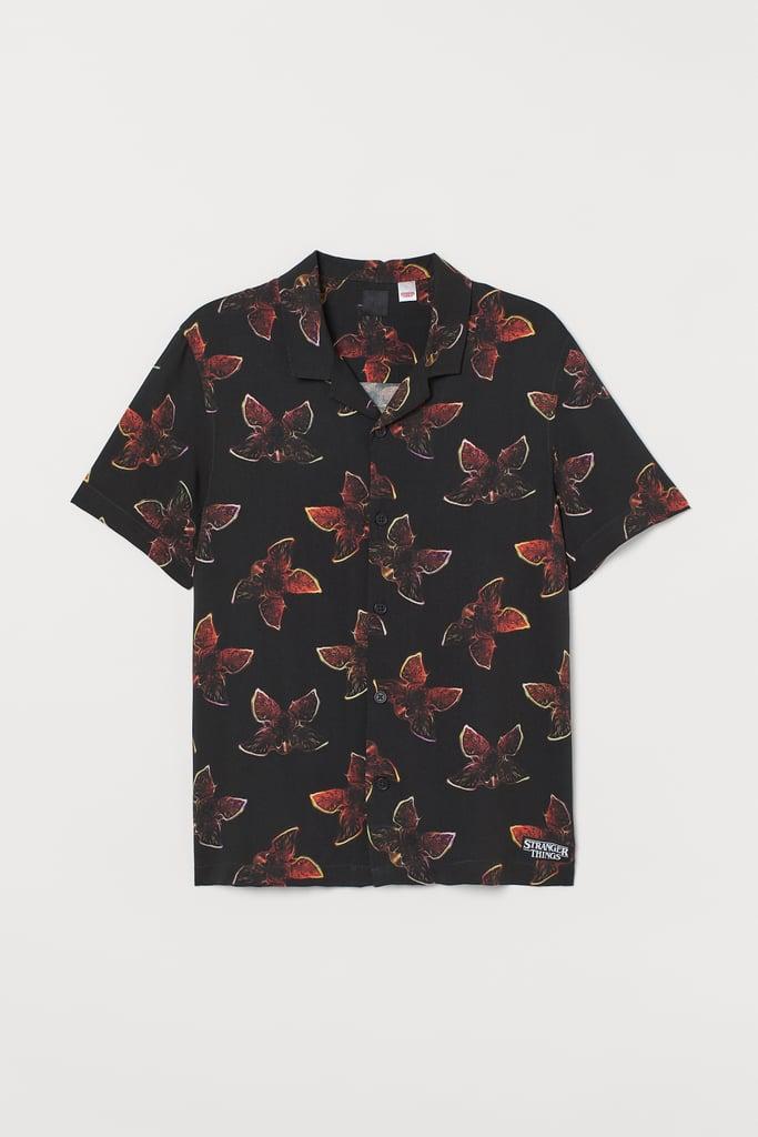 Stranger Things x H&M Patterned Resort Shirt