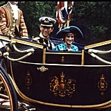 In July 1986, Prince Charles and Princess Diana traveled in a horse-drawn carriage to the wedding of Prince Andrew and Sarah Ferguson.