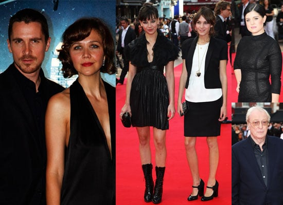 Photos Of Christian Bale, Maggie Gyllenhaal, Michael Caine, Alexa Chung, Daisy Lowe, Kelly Osbourne At The Dark Knight Premiere