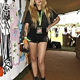 Zoe Martin went for studded shorts.