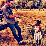 Josh and Naleigh Kelley were caught in an adorable father-daughter moment.  Source: Instagram user joshbkelley