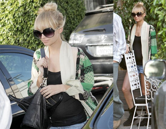 Photos of Nicole Richie at Hair Salon in NYC