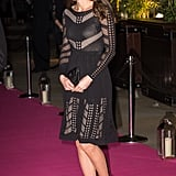 Kate Middleton Pregnant In Black Temperley Dress 2014