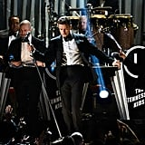 Justin Timberlake performed at the Grammys.
