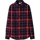 Uniqlo Flannel Check Long-Sleeve Shirt ($30)