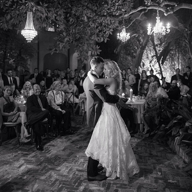 """""""My wife, she makes me wanna dance,"""" Joe wrote in his Instagram taken at the wedding."""