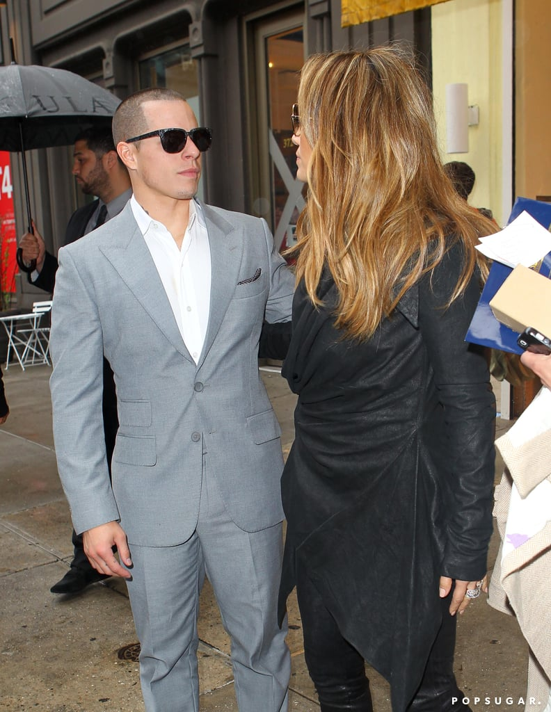 Jennifer Lopez and Casper Smart went out to lunch together in NYC.