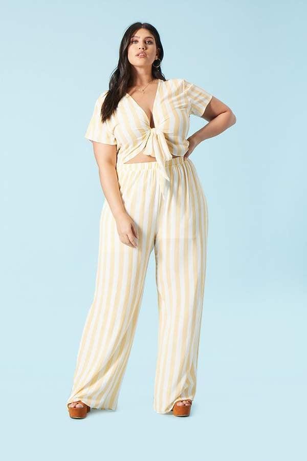 Forever 21 Striped Palazzo Pants Cheap Plus Size Pants Popsugar