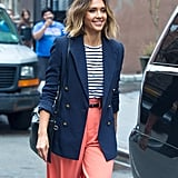 Style Your T-Shirt With: A Blazer and Pants