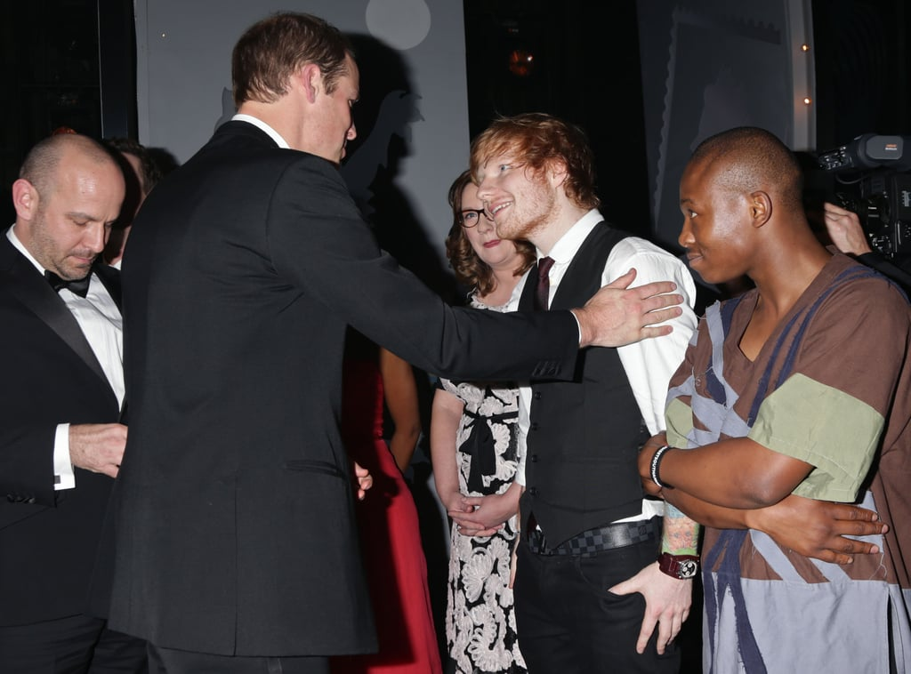 In November 2014, Wills gave Ed Sheeran a warm greeting at the Royal Variety performance.