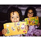 In 2015, her children, Monroe and Moroccan, wrote letters to Santa Claus.