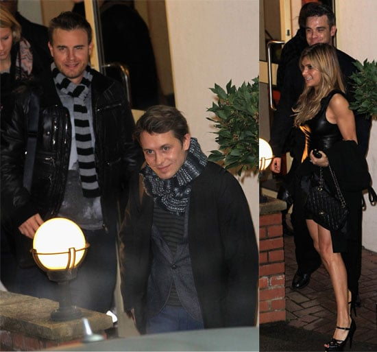 Pictures of Robbie Williams, Gary Barlow, Mark Owen, Howard Donald, Jason Orange, Take That at The X Factor Studios & Ayda Field