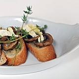 Fall Dinner Party Menu: Mushroom and Brie Bruschetta