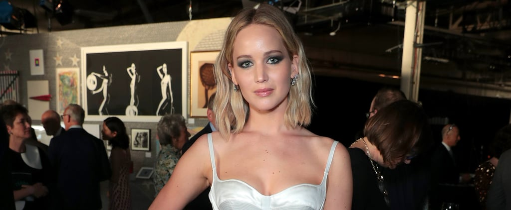 Jennifer Lawrence's Sexy White Slip Dress