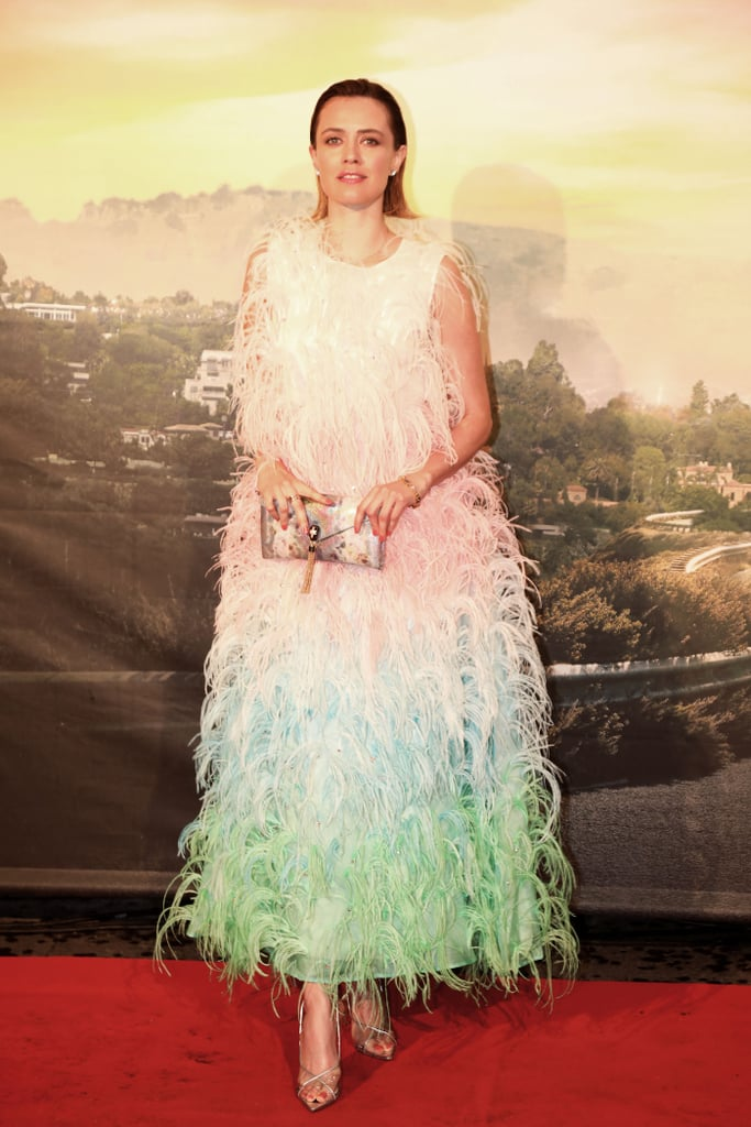 Nathalie Rapti Gomez at the Once Upon a Time in Hollywood premiere in Rome.