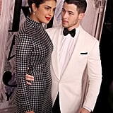 Priyanka Chopra's Black Dress With Nick Jonas Fashion Week