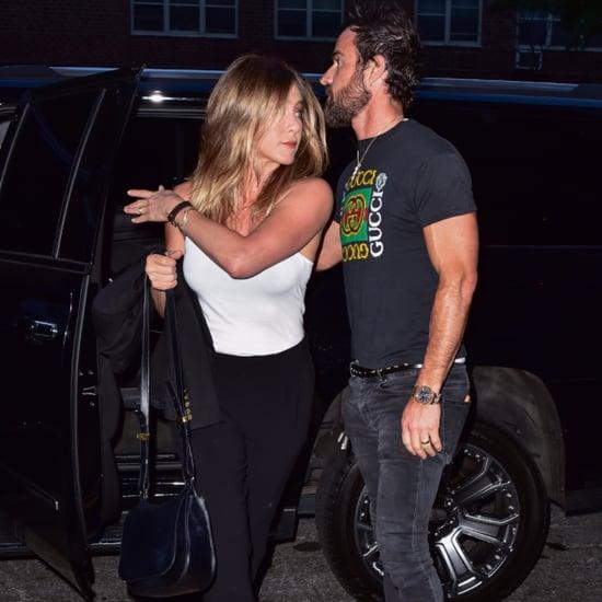 Jennifer Aniston Wearing a White Tank Top June 2016