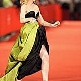 Cate wearing a Giorgio Armani dress at the second Rome Film Festival for her the premiere of Elizabeth: The Golden Age in October 2007.