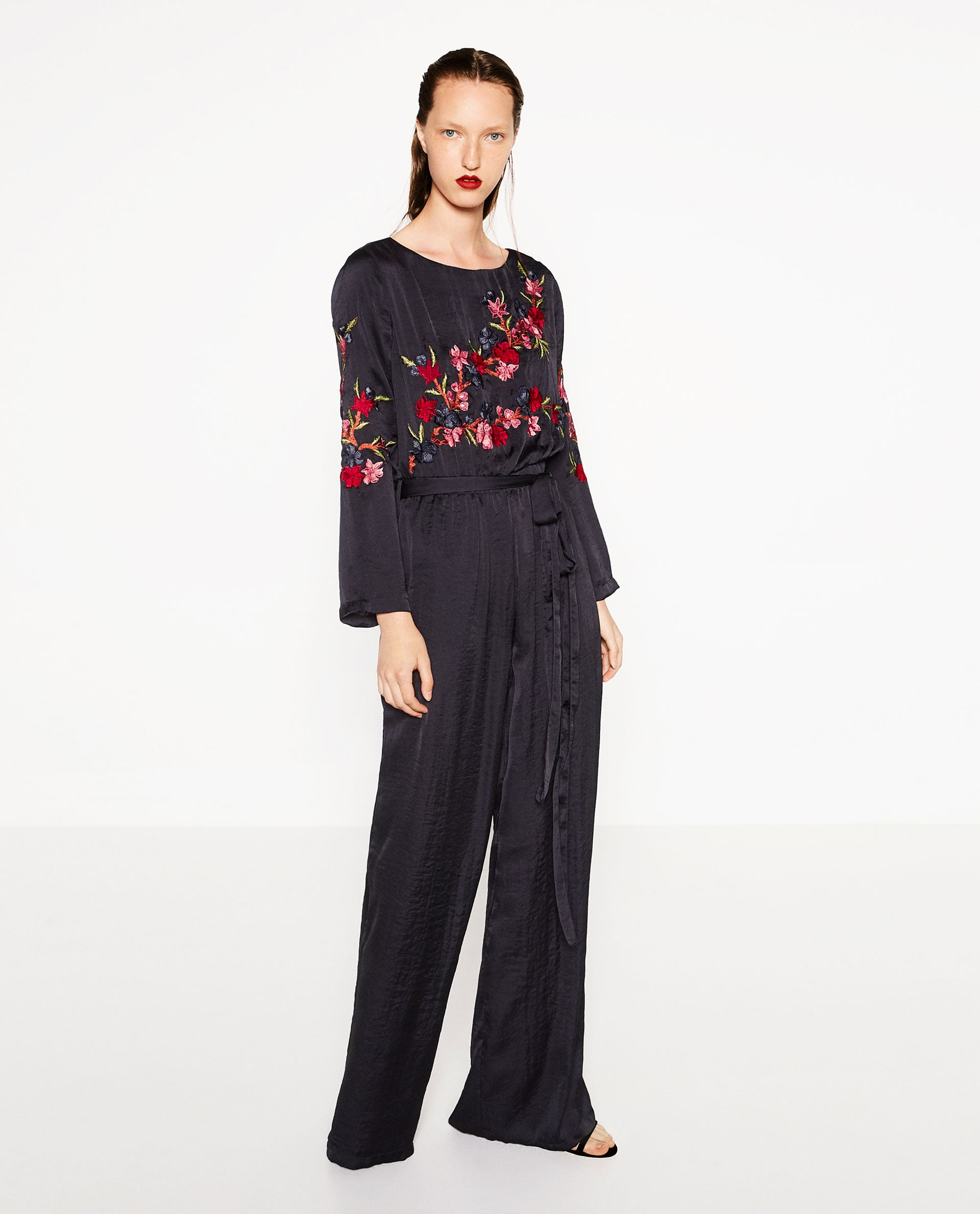 Zara Embroidered Jumpsuit 70  Finally  What To Wear