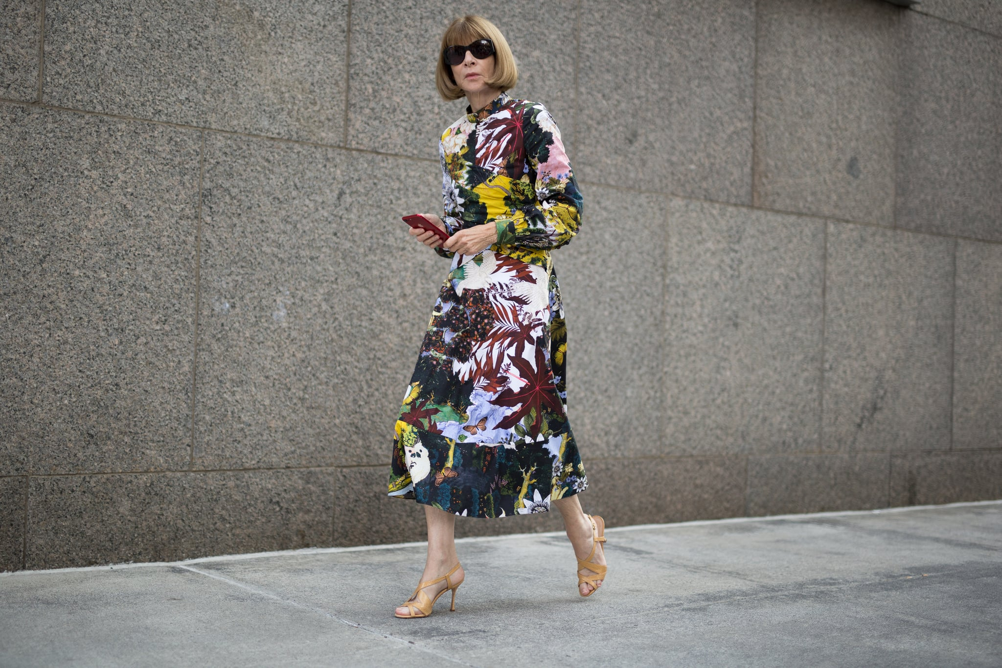 NEW YORK, NY - SEPTEMBER 11:  Anna Wintour is seen attending Oscar de la Renta during New York Fashion Week wearing Oscar de la Renta on September 11, 2017 in New York City.  (Photo by Matthew Sperzel/Getty Images)