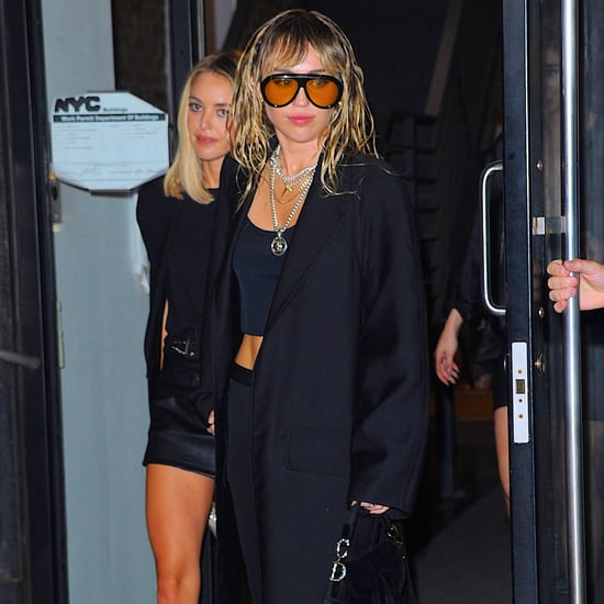 Miley Cyrus Wearing Gucci Sunglasses With Kaitlynn Carter