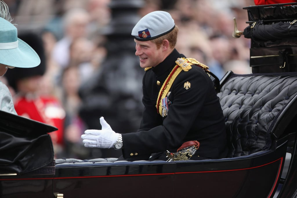 Prince Harry looked dapper at theTrooping the Colour ceremony in London.