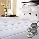 Sunbeam Quilted Heated Mattress Pad With Dual EasySet Pro Controllers