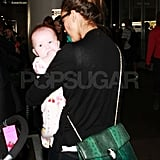 Jessica Alba with Haven at LAX.
