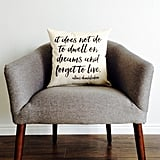 Albus Dumbledore Quote Pillow ($18)
