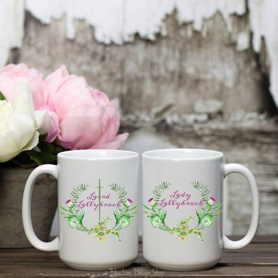 Laird and Lady Lallybroch Coffee Mug Set ($26)